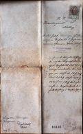 AD184 Gerichtskorrespondenz Gießhübl Im November 1897, Mit Stempelmarke - Historische Dokumente