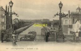 02 St Quentin, Le Canal, N° 1, Verso Publicité Semelles Welcome - Saint Quentin