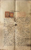 AD185 Alter Schuldschein Gießhübl - Mödling, Juni 1901, Mit Stempelmarken - Historische Dokumente