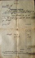 AD187 Alter Zahlungs-Auftrag Gießhübl Von 1898, Mit Steuerstempel - Autriche