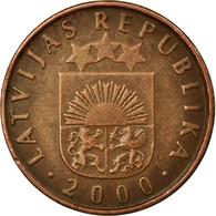Monnaie, Latvia, 2 Santimi, 2000, TB+, Copper Clad Steel, KM:21 - Lettonie