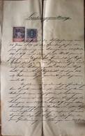Alte Löschungsquittung Grundbuch Gießhübl 1897, Mit Stempelmarken - Historische Dokumente