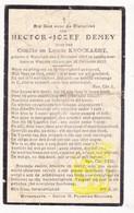 DP Hector J. Demey ° / Knockaert ° Wijtschate Heuvelland 1904 † Le Gheer Waasten Warneton 1933 - Images Religieuses