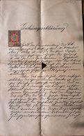 AD192 Alte Löschungserklärung, Mödling 1901, Mit Stempelmarke - Historische Dokumente