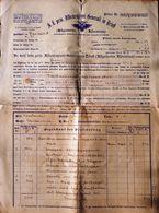 AD193 Alte Polizze K.k. Priv. Assicurazioni Genrali In Triest, Gießhübl 1890 - Historische Dokumente