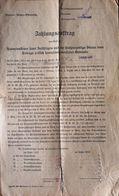 AD194 Alter Zahlungsauftrag Steuervorschreibung, Gießhübl 1911/1912 - Austria