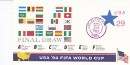 USA Cover 1993 Final Draw To World Cup 1994 Football In The USA   (B567) - Fußball-Weltmeisterschaft