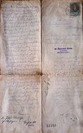 AD195 Altes Grundbuchgesuch, Einverleibung, Gießhübl 1897, Mit Stempelmarke - Historische Dokumente