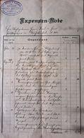 AD197 Alte Rechnung, Expensen-Note, Mödling 1906-1910, In Kronen-Währung - Autriche