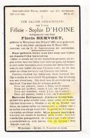 DP Félicie S. D'Hoine ° Wijtschate Heuvelland 1887 † 1937 Floris Bervoet - Images Religieuses