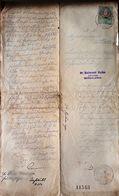 AD198 Altes Grundbuchgesuch - Einverleibung, Gießhübl 1897, Mit Stempelmarke - Historische Dokumente