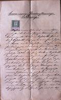 AD199 Alte Pfandauflassungserklärung, Gießhübl 1897, Mit Stempelmarken - Historische Dokumente