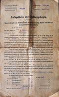 AD201 Alter Anlageschein Und Zahlungsbogen, Hauszinssteuer 1905/06, Gießhübl - Historische Dokumente