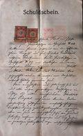 AD203 Alter Schuldschein Gießhübl 1907, Mit Stempelmarken, Kronen-Währung - Historische Dokumente