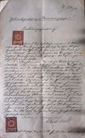 AD204 Alte Löschungsquittung, Grundbuch Gießhübl 1911, Mit Stempelmarken - Historische Dokumente