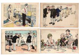 MILITARIA - NOS MARINS Par Gervèze, Lot De 12 Cartes - Humorísticas