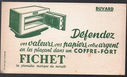Buvard COFFRE-FORT  FICHET (PPP10311) - Blotters