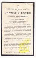 DP Charles Dieryck ° Wijtschate Heuvelland 1871 † 1932 X Eug. Gheerardyn Xx Julie D'Hondt - Images Religieuses