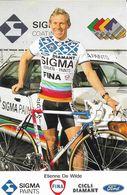Cycliste: Etienne De Wilde, Equipe De Cyclisme Professionnel: Team Sigma, Belge 1988 - Sports