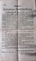 AD206 Ausschreibung Schotter-Lizitations-Kundmachung, Mödling Jänner 1910 - Historische Dokumente