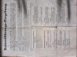 AD207 Ausschreibung Kotverführungs-Vergebung, Mödling März 1912 - Historische Dokumente
