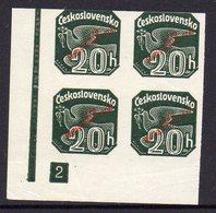 SLOVAKIA, 1939 GREEN 20h O/P  BLOCK 4 - Neufs