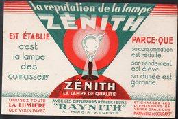 Buvard  LAMPES ZENITH  (PPP10305) - Blotters