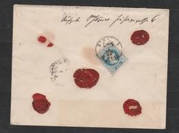 Mi. Nr. 37, Rückseitig Nr. 38  A. Rekobrief V. WIEN - 1850-1918 Impero