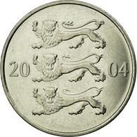 Monnaie, Estonia, 20 Senti, 2004, No Mint, TTB, Nickel Plated Steel, KM:23a - Estonie