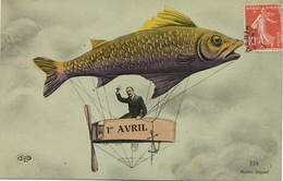 Dirigeable Poisson 1 Avril ELD Montage Photo - Airships
