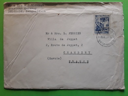 Jugoslavija ,Yugoslavia Yougoslavie US American Embassy BELGRADE / BEOGRAD Cover Yt 595 Imprimerie 30 D  > Chambery 1955 - 1945-1992 République Fédérative Populaire De Yougoslavie