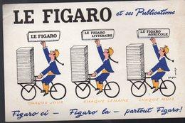 Buvard  Le FiGARO (illustrateur SAVIGNAC) (PPP10297) - Blotters