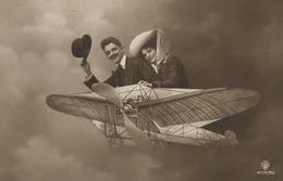 Avion Montage Photo  Couple Surrealisme  Taxée Paris - ....-1914: Précurseurs