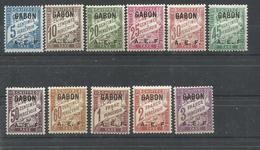 GABON  YVERT  TAXA  1/11  MH  * - Gabon (1886-1936)