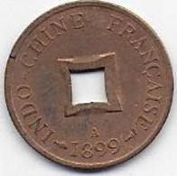 INDO CHINE - Sapèque 1899 A - Colonies