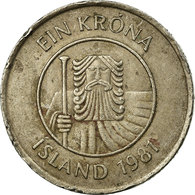 Monnaie, Iceland, Krona, 1981, TB+, Copper-nickel, KM:27 - IJsland