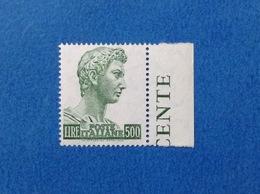 1969 ITALIA FRANCOBOLLO NUOVO STAMP NEW MNH** SAN GIORGIO DONATELLO FLUORESCENTE 500 LIRE - 1961-70: Mint/hinged