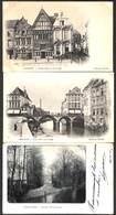 Malines - Leuke Lot Of 3 Postkaarten (animatie, Met Brasserie Brouwerij Van Diepenbeeck) - Mechelen