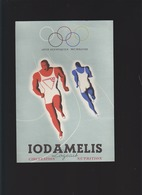 Sport - Jeux Olympiques 1948 - CP Pub Médicament Iodamelis Logeais - Advertising