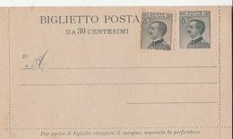 Regno D'Italia ,Biglietto Postale Da 30 Cent. - 31/10/1925 - 1900-44 Vittorio Emanuele III