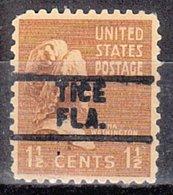 USA Precancel Vorausentwertung Preo, Locals Florida, Tice 729 - Vereinigte Staaten