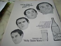 ANCIENNE PUBLICITE FOIE CONNAIS PAS  DE VICHY SAINT YORRE 1969 - Affiches