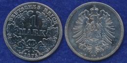 Deutsches Reich 1 Mark 1875C Kleiner Reichsadler Ag900 - [ 2] 1871-1918: Deutsches Kaiserreich