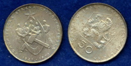 CSSR 50 Kr. 1971 Menschen/Hammer+Sichel Ag700 - Tschechoslowakei