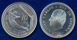 Spanien 10 EUR 2003 Fußball-WM Ag925 27g - Spain