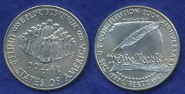 USA 1 Dollar 1987 200 Jahre Verfassung Ag999 26,7g - Federal Issues