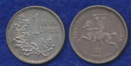 Litauen 1 Litas 1925 Reiterstatue Ag500 - Litauen