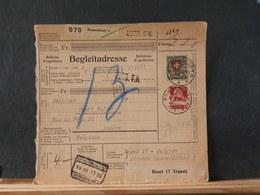 83/677   Begleitadresse Suisse 1930 - Lettres & Documents
