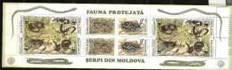 Moldavie Moldova 1993 N° Carnet 44 ** WWF, Protection De La Nature, Animaux, Serpent, Couleuvre D'Esculape, Vipère - Moldavie