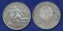 Nordkorea 500 Won 1994 Fußball-WM Ag999 1oz - Corée Du Nord